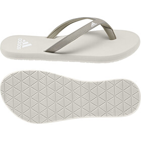 adidas Eezay Claquettes Femme, platin metallic/footwear white/raw white